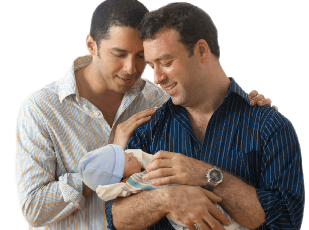 fathers holding baby