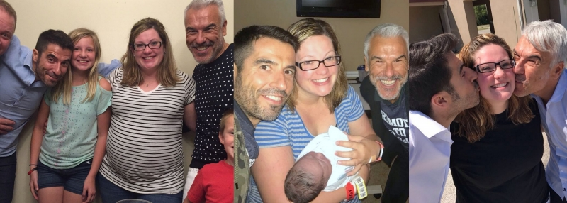Surrogate Sara with Intended Fathers J&J